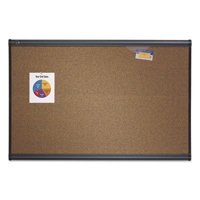 Prestige Bulletin Board, Brown Graphite-Blend Surface, 48 x 36, Aluminum Frame, Sold as 1 Each by Quartet