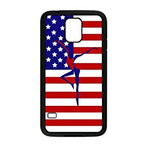 LeonardCustom- Dave Matthews Band Fire Dancer Protective Hard Rubber Coated Cover Case for Samsung Galaxy S5 [Black / White] -LCS5U424