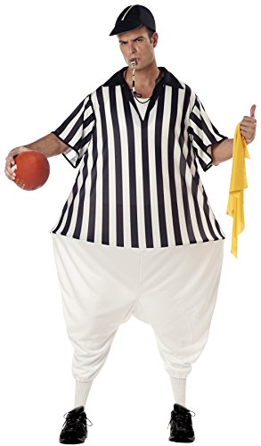 [UHC Men's Comical Referee Funny Theme Party Adult Halloween Costume, OS] (Mens Referee Costumes)