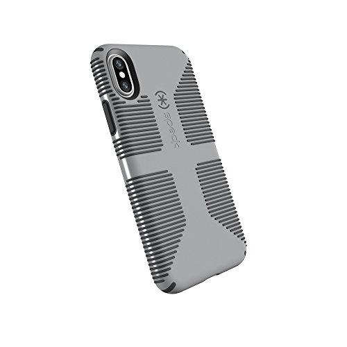 Speck Products CandyShell Grip Cell Phone Case for iPhone XS/iPhone X - Pebble Grey/Slate Grey