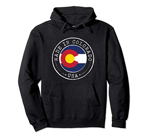 Made in Colorado Hoodie Vintage Sweatshirt State CO Flag
