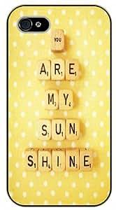 iPhone 5C You are my sunshine. Scrabble Alphabet - black plastic case / Life quotes, inspirational and motivational / Surelock Authentic