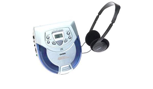 Casio PZ4000B - Reproductor de CD portátil con kit de coche y antigolpes (40 segundos): Amazon.es: Electrónica