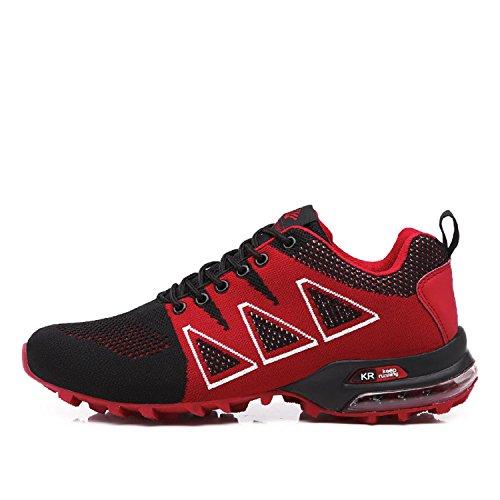 Rot Herren Bequeme LILY999 Trekking Atmungsaktive Wanderschuhe Leichte Schuhe Laufschuhe Traillaufschuhe Rutschfeste OvqwvC