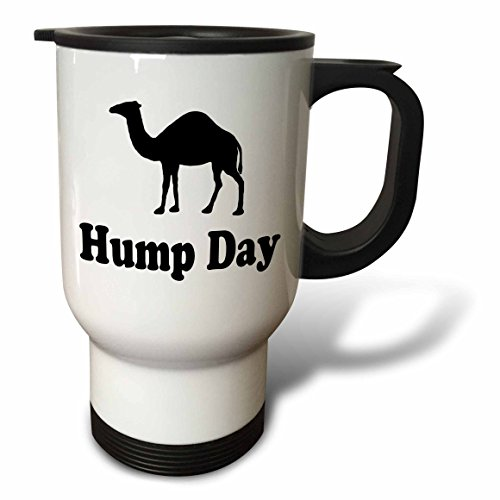 3dRose Hump Day Camel Wednesday Travel Mug, Stainless Steel, 14-Ounce