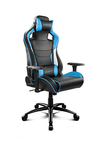 Drift DR400BL - Silla Gaming Profesional, (Polipiel Alta Calidad, Ergonomica), Color Negro/Azul