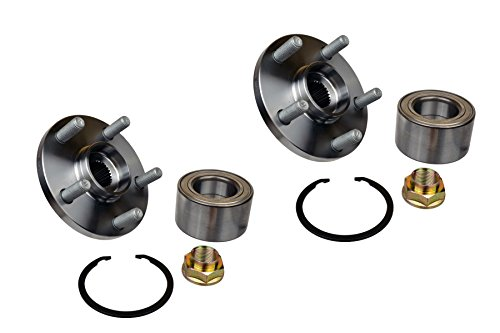 (Two DTA NT930598K x2 Front Wheel Hub Wheel Bearing Kits Left and Right Toyota Corolla Celica Matrix Vibe 1.8L Only Replaces BR930598K, 510070, 930-406)