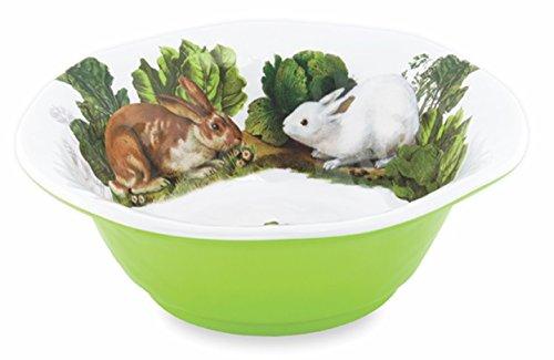 Michel Design Works Melamine Medium Serving Bowl, Garden Bunny -