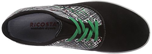 Ricosta Vance - zapatilla deportiva de piel infantil negro - Schwarz (schwarz/gras 090)