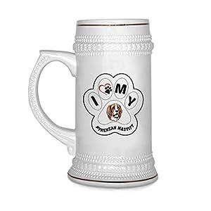 Custom Beer Mug I Paw My Pyrenean Mastiff Dog Ceramic Drinking Glasses Beer Gifts White 18 OZ Design Only 6