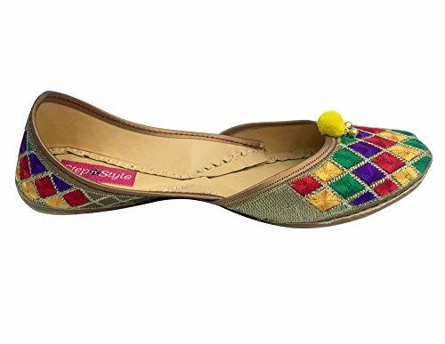 Stap-in-teen Lederen Damesschoenschoenen Multi-colored