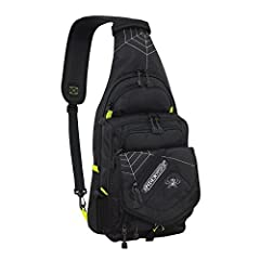Maximize comfort and access to your fishing gear with the SpiderWire Sling Fishing Backpack, featuring a padded adjustable strap that can be worn over your left or right shoulder. It includes one medium utility box, but has room for two mediu...