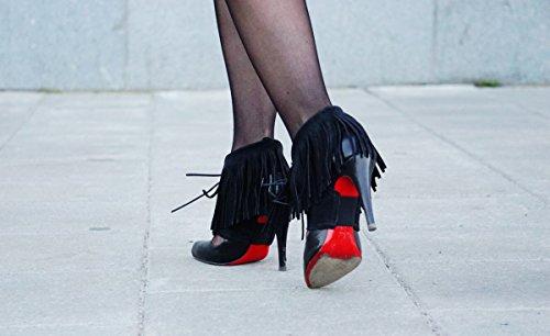 Accesorios De Zapatos De Flecos Molinis Transforma Tus Bombas En Botines Y Camina Cómodo En Los Talones. Gamuza, (talla S, M, L, Disponible En Más Colores) Negro