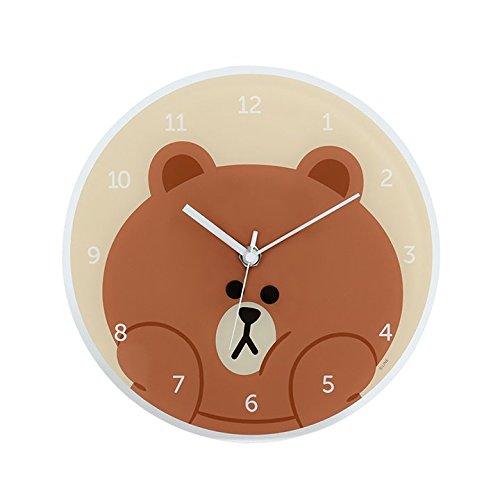 LINE FRIENDS アクリルプレート時計 ブラウン B075CYTR9X