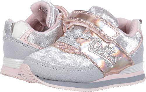 OshKosh B'Gosh Girls' Lu Sneaker, Grey, 7 M US Toddler