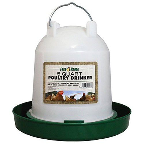 Harris Farms Plastic Poultry Drinker, 5 Quart (Easy Fill Drinker)