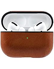HENGTONGTONGXUN Retro Leather Case Cover For AirPods Pro,Waterproof Charging Full Protective Cover, Wireless Bluetooth Headset Case Cover(Brown/Dark brown/Black/Red) Please note the size and color at