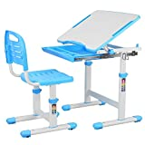 POTBY Kids Desk and Chair Set, Height Adjustable