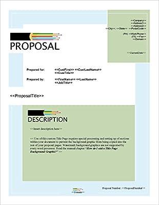 Proposal Pack Networks #1 - Business Proposals, Plans, Templates, Samples and Software V17.1