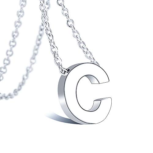 Bala Initial Letter Necklace 316 Stainless Steel for Women Wedding Initial C