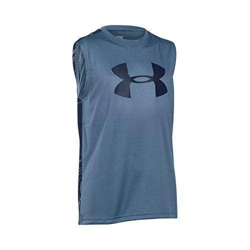 Under Armour Boys' UA Tech Big Logo Novelty Sleeveless T-Shirt X-Large / 18-20 Big Kids SLATE BLUE