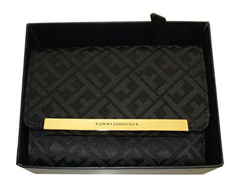 Canvas French Handbag (Tommy Hilfiger French Wallet Canvas Black Bi Fold)