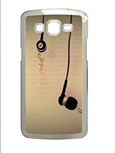 Music Is Magnificent Polycarbonate Hard Case Cover for Samsung Galaxy Grand 2¨C Transparent