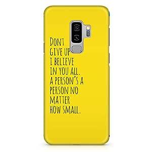 Loud Universe Dont Give up Quote Samsung S9 Plus Case Dr Seuss Motivation Samsung S9 Plus Cover with 3d Wrap around Edges