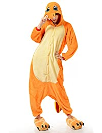 I'MQueen Womens Charmander Onesie Adult Pajamas Cartoon Cosplay Costume Homewear