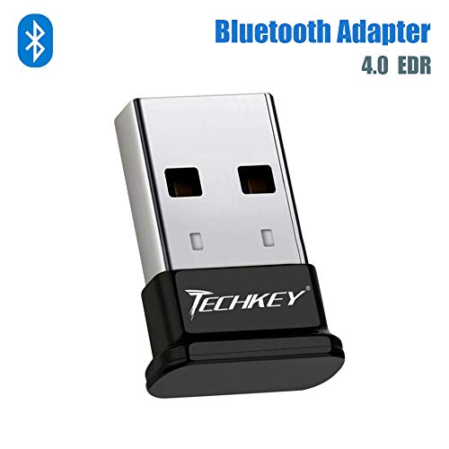Bluetooth Adapter for PC USB Bluetooth Dongle 4.0 EDR Receiver TECHKEY Wireless Transfer for Stereo Headphones Laptop Windows 10, 8.1, 8, 7, Raspberry Pi, Linux - Edr Bluetooth