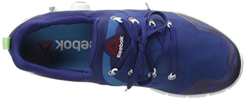 Reebok Womens Zpump Fusion 2.0 Running Shoe Night Beacon / Blu Elettrico / Verde Schiuma Mare