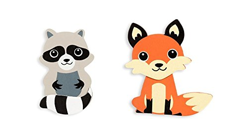 Darice Natural Wood Painted Woodland Creatures Cutouts - Fox and Raccoon