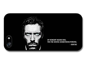 Doctor House MD Hugh Laurie TV Series Life Inspirational Quote case for iPhone 5 5S
