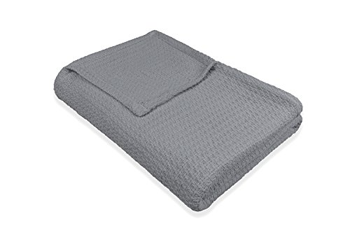 Eileen Gray Designs - Baltic Linen Eileen West Cotton Blanket, TWIN, Gray