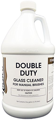 Double Duty, Glass cleaner for manual brush washing - 4X1 Gallon Case by EcoClean Solutions