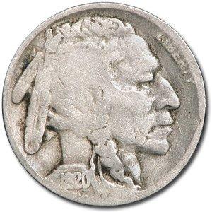 1920 Buffalo Nickel Good+ Nickel Good