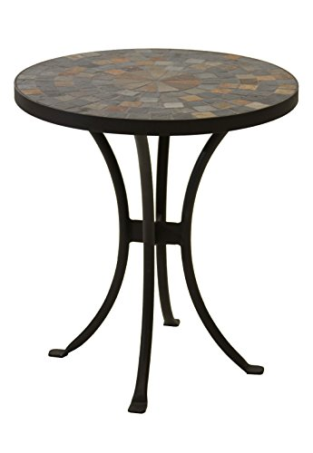 Outdoor Interiors LLC 31625 Mosaic Side Table, 18-Inch (Outdoor Side Table Mosaic)