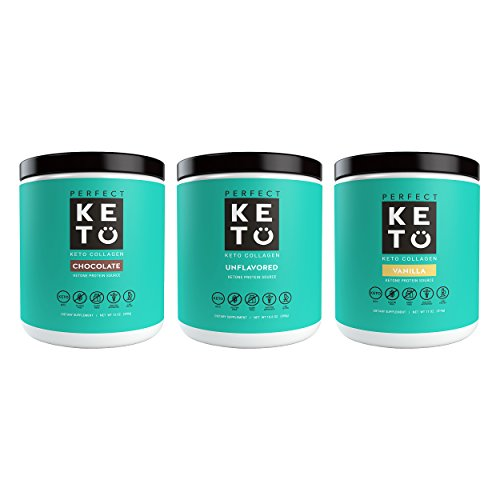 Perfect Keto Protein Powder - Pure Grass-fed Collagen Peptides & MCT Oil Low Carb Protein
