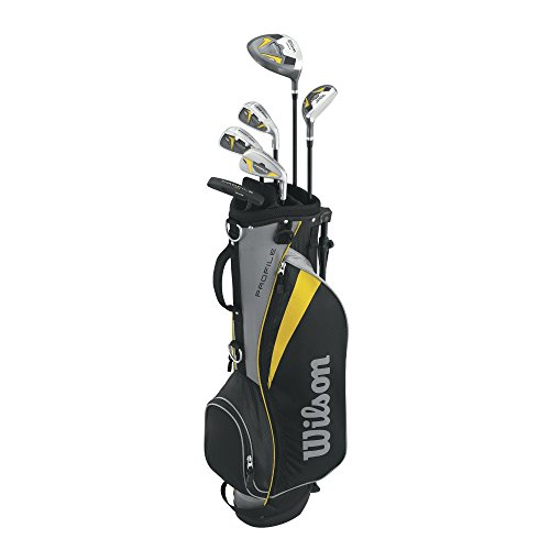 Wilson Men's Profile Junior Complete Package Golf Set, Right Hand, Yellow, Medium