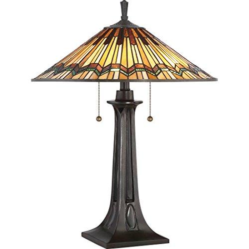 Quoizel TFAT6325VA Two Light Table Lamp, Small, Valiant Bronze ()