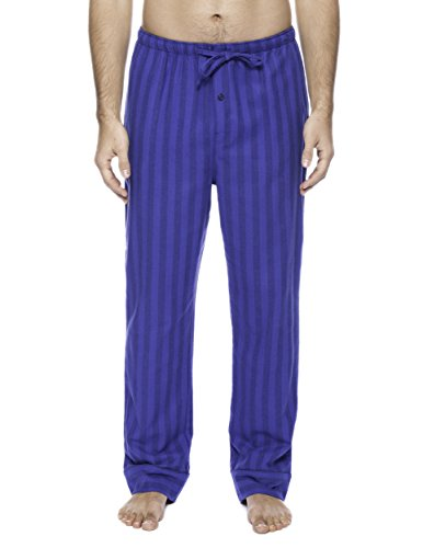 Men's Premium Flannel Lounge Pants - Stripes Tonal Blue - -