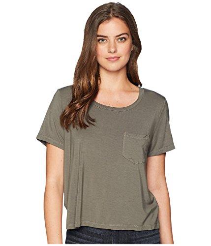 (Splendid Women's 100% Cotton Crewneck Short Sleeve Tee T-Shirt, Military Olive, XX-Large)