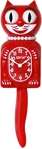 Colorful Cat (Kit Cat Klock Limited Edition Lady (Scarlet Red))