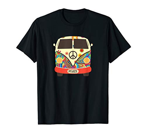 Hippie Hippies Peace Vintage Retro Costume Hippy Gift T-Shirt from Hippie Travel Car Tee