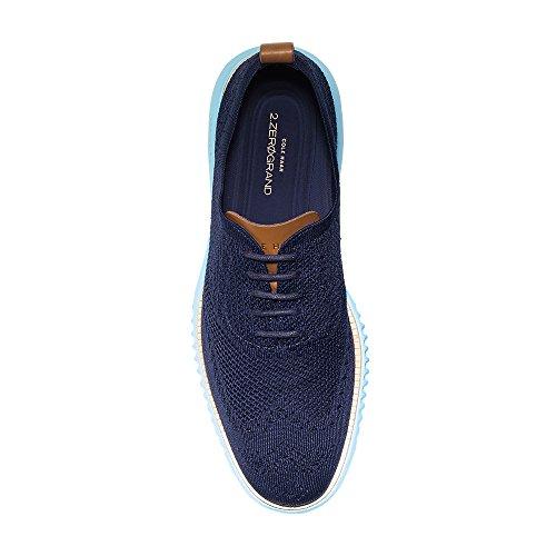 Cole Haan Heren 2.0 Zerogrand Stitchlite Oxford Marine Blauw Breit-blauwbaars