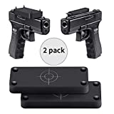 Jadeke Gun Magnet Mount - 2-Pack | Gun Magnet Firearm Accessories Holster for Vehicle and Home | Concealed Holder for Handgun, Rifle, Shotgun, Pistol, Revolver, Truck, Car, Wall, Safe