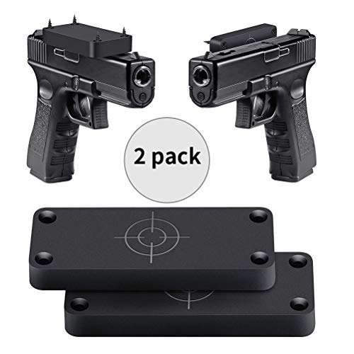 Jadeke Gun Magnet Mount - 2-Pack | Gun Magnet Firearm Accessories Holster for Vehicle and Home | Concealed Holder for Handgun, Rifle, Shotgun, Pistol, Revolver, Truck, Car, Wall, Safe by Jadeke