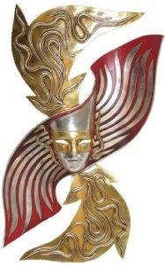 """33.5"""" Ivrea Italian Venenetian Art Deco Carnival Wall Mask"""