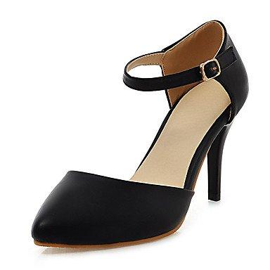 LvYuan Mujer-Tacón Stiletto-Otro D'Orsay y Dos Piezas-Sandalias-Boda Vestido Fiesta y Noche-Semicuero-Negro Azul Rosa Beige Black