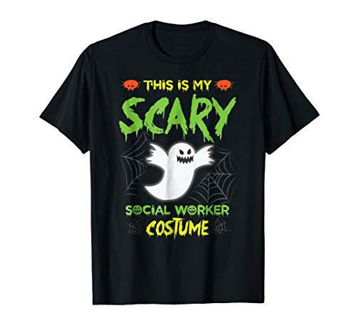 This Is My Scary Social Worker Halloween Costume Tshirt -